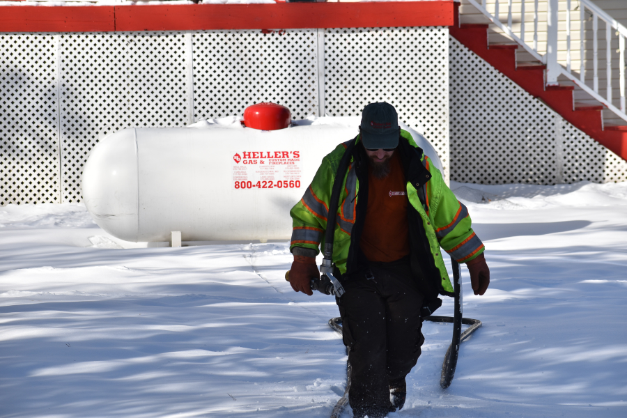 Propane snow fall safety